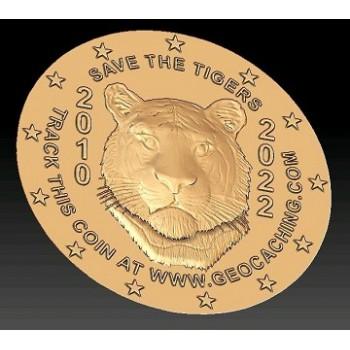 Tiger Coin - Brons