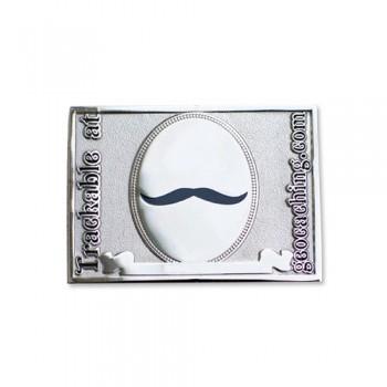 Mustaschen fick mig att göra det - Blank Nickel