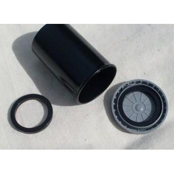 Svart neodymium magnet, ring 28 mm