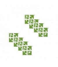 Miniklistermärken, 8 pack - Gröna