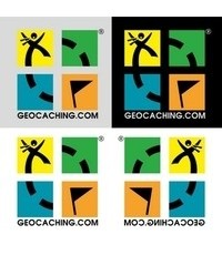 Geocaching Minilogo, 4 pack