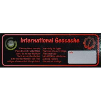 International Geocache - Litet klistermärke