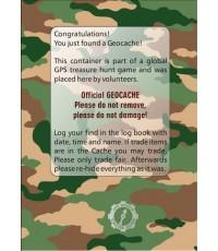 Geocache klistermärke - stort