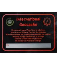 International Geocache - Stort klistermärke