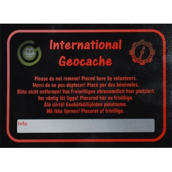 International Geocache - Stort klistermärke