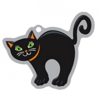 Halloween Svart katt - Travel Tag